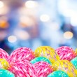Image of blurred bokeh light and easter eggs  for background usa — Stock Photo #68905251