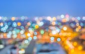 Blur lights from Chiang Mai, Thailand for background usage . — Stock Photo
