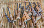 Group of carpenter tools — Stock Photo