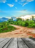 Road to the big mountain — Stock Photo