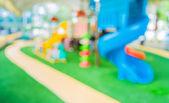 Blur image of children's playground at public park — Stock Photo