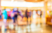 Blurred image of shopping mall and people . — Stock Photo