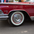 Постер, плакат: Moscow Russia June 29 2014: Car wheel of Buick on show of collection Retrofest cars