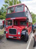 Moscow, Russia - June 29, 2014: The red passenger double decker bus on show of collection Retrofest cars — Stockfoto