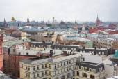 Panoramic view of the building from the roof of Moscow in cloudy weather during the day — Stock Photo