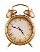 Old-fashioned alarm clock isolated on white background — Stock Photo