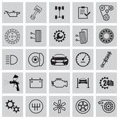 Auto servicio conjunto de iconos — Vector de stock