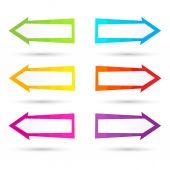 Abstract vector arrows — Stock Vector