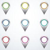 Set of map pointers — Vector de stock