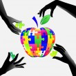 ������, ������: Apple in hands a puzzle