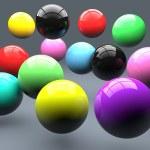 Постер, плакат: Polymer balls