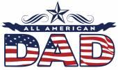 American dad — Stock Vector