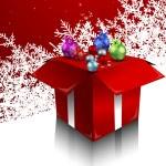Christmas balls in a box — Stock Vector #59751983