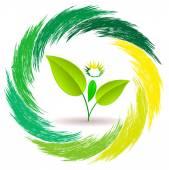 Logo person plants — Wektor stockowy