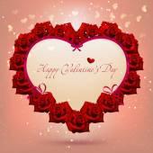 Valentine day heart flowers — 图库矢量图片