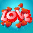 Word love to Valentines Day Background — Stock Vector #64451069