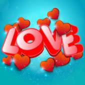 Word love to Valentines Day Background — Stock Vector