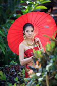 Thai Woman In Traditional Costume — Stock Photo
