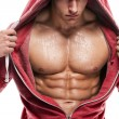 Athletic Man Fitness Model Torso showing six pack abs — Stock Photo #69896947