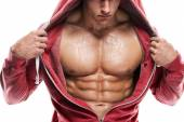 Athletic Man Fitness Model Torso showing six pack abs — Stock Photo