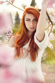 Sensual portrait of a spring woman — Stock Photo