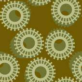 Abstract seamless pattern with cogwheels. — Stock Vector