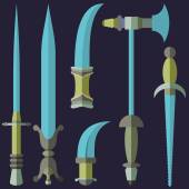 Vintage Swords, Knifes — Stock Vector