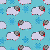 Sheep pattern — Cтоковый вектор