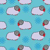 Sheep pattern — Vector de stock