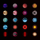 Collection of abstract graphic design elements. Set of logos — Stock Vector