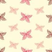 Padrão com borboletas — Vetorial Stock