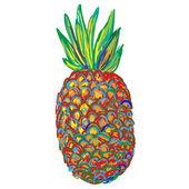 Ripe juicy Pineapple — Stock Vector