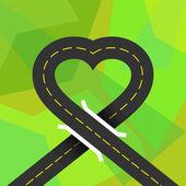Urban asphalt road — Stock Vector