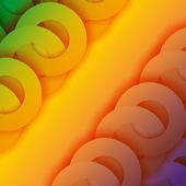 Bright circles abstract background — Stock vektor