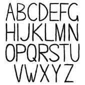 Handwritten black alphabet — Stock Vector
