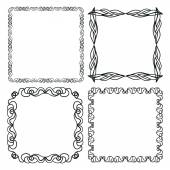 Set of hand drawn doodle frames — Stock Vector