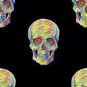 Kafatasları ile Seamless Modeli — Stok Vektör