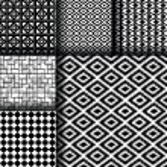 Set of 6 monochrome elegant seamless patterns — Stock Vector #80303534