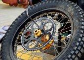 заднее колесо — Стоковое фото