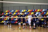 The volleyball players — Stok fotoğraf