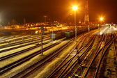 The railway station — Stock Photo