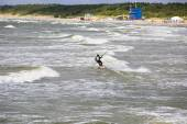 Rider surfing on the waves — Stock Photo