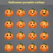 Set of funny emoticons in the form of small pumpkins for your forum — Stock Vector #59830825