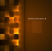 Abstract geometric pattern with backlight. illumination — Stock Vector