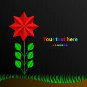 Paper rainbow flower. vector illustration — Stock Vector