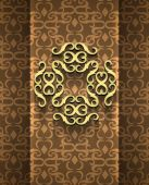 Expensive Victorian pattern in retro vintage style — Vettoriale Stock