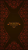 Elegant vintage card, flyer, invitation. template. Design background with ornate floral pattern — Stock Vector