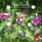 Floral infographic elements — Stock Vector
