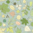 Seamless pattern with leaves — Stock Vector #66208471