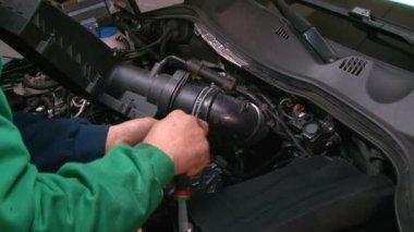 Car Repair Disassembling the Ventilation System — Stock Video